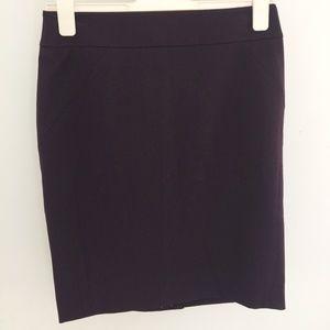 LOFT Dark Purple Pencil Skirt Petite